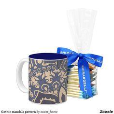 Your Custom 11 oz Two-Tone Mug http://www.zazzle.com/gothic_mandala_pattern_coffee_mug-168610690659448844?style=twotone_mug&color=navyblue&addon=chocolatesquares&view=113208055599340162&CMPN=shareicon&lang=en&social=true&rf=238588924226571373