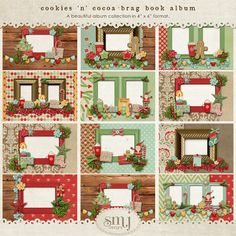 Cookies 'n' Cocoa Brag Book Album | Shabby Miss Jenn Designs