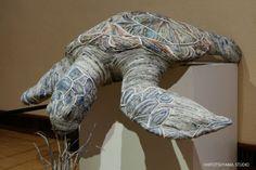 Japanese paper artist Chie Hitotsuyama replicates amazing wild animals using intricately bound newspaper | Inhabitat - Green Design, Innovation, Architecture, Green Building