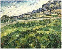 Vincent van Gogh - Green Wheat Field, 1889