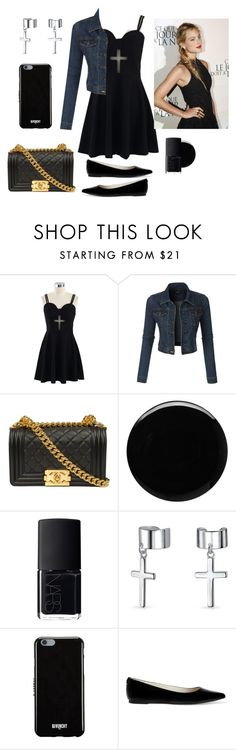 """""""Church Day"""" by eve-rosso ❤ liked on Polyvore featuring beauty, Chicwish, LE3NO, Deborah Lippmann, NARS Cosmetics, Bling Jewelry, Givenchy and MICHAEL Michael Kors"""