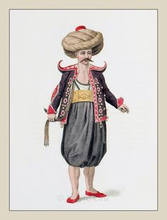 Traditional Ottoman Folk Costumes, The Janissaries uniforms, Turkish Sultans. Historical Costume, Historical Clothing, Military Ranks, Military Uniforms, Ottoman Turks, Female Dancers, Arab Women, Mughal Empire, Empire Style