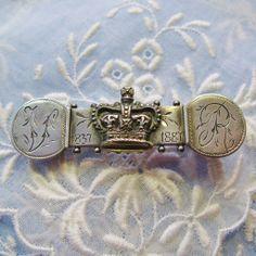 Antique Commemorative Queen Victoria Golden Jubilee Sterling Silver Brooch