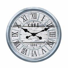 Reloj Pared Café Azul