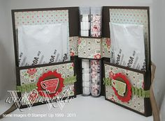 wickedlywonderfulcreatons.blogspot.com  card holds hot chocolate packets and mini marshmallows with peppermints too