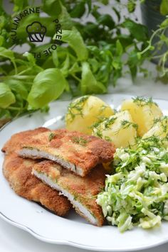 Kotlety schabowe inaczej - KulinarnePrzeboje.pl Salmon Burgers, Main Dishes, Pork, Food And Drink, Cooking Recipes, Tasty, Meat, Chicken, Ethnic Recipes