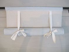 Classic styling – a window shade in a medium slate blue cotton ticking lined with natural osnaburg cotton – roll up, or create gentle folds that Diy Blinds, Curtains With Blinds, Woven Shades, Kitchen Blinds, Glass Room, Home Projects, Sewing Projects, Home Renovation, Window Treatments