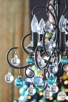 Add style to your chandelier with mini glass Christmas balls. Shop HomeGoods for a big selection of ornaments to deck your halls. *sponsored pin*