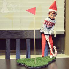 The Elf on the Shelf®~Elf golfing.