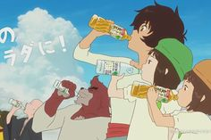 The Boy And The Beast + Green DaKaRa Drink Commercial