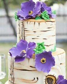 Imitate the texture and color of wood instead of ACTUALLY putting wood on the cake.   From Inspirations for Weddings Magazine Issue 3. Available in magazine outlets nationwide or in Themes & Motifs - Makati Shangri-La (09155615958)