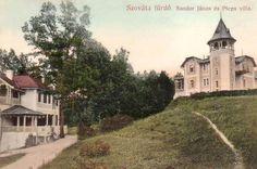 Szováta:Sándor János és Plepsvilla.1908 Villa, Mansions, House Styles, Home Decor, Decoration Home, Room Decor, Fancy Houses, Villas, Mansion
