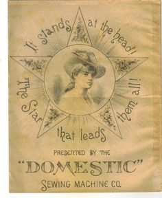 Advertising Trade Card Booklet Star Domestic Sewing Machine