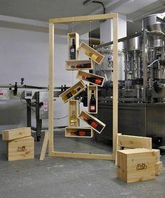diVina display #wine #wood #reuse design Reuse, Wine Rack, Furniture Design, Design Inspiration, Display, Studio, Storage, Wood, Home Decor