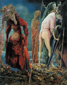 """Max Ernst : The Antipope, Dec.1941–March 1942. Oil on canvas, 63 1/4 x 50"""", The Solomon R. Guggenheim Foundation, Peggy Guggenheim Collection, Venice."""