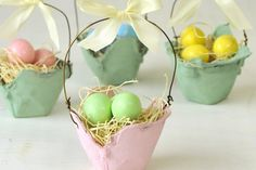 10 Very Crafty Easter Baskets easter decoration diy easter crafts easter diy easter decor easter decorations diy easter decor diy easter easter decoration ideas easter baskets easter pictures easter ideas easy easter diy diy easter baskets Easter Egg Dye, Hoppy Easter, Easter Baskets To Make, Egg Carton Crafts, Basket Crafts, Easy Easter Crafts, Spring Crafts, Egg Cartons, Basket Ideas