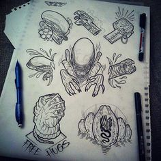 ALIEN TATTOO LINE DRAWING - Google Search