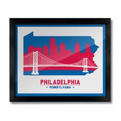 ================================================================  Philadelphia, Pennsylvania SKYLINE & BRIDGE PRINT - Philly 76ers Basketball White ================================================================== Our original handcrafted prints, take cues from vintage artwork with an updated modern spin. Inspired by oil signs from the 50s and 60s, old beer labels, and other vintage art. We know the passion and local pride you all have for your cities. The designs are printed locally and…