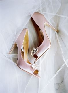 Pink peep toe heels: http://www.stylemepretty.com/2017/02/13/10-pretty-in-pink-shoes-to-pair-with-your-perfect-white-wedding-dress/ Photography: Olivia Lott - http://www.olivialott.com/