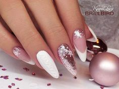 Trendy Nails New Years French Art Designs 53 Ideas Nails Now, Xmas Nails, Holiday Nails, Christmas Nails, Holiday Nail Designs, Nail Art Designs, Trendy Nails, Cute Nails, French Manicure Nails