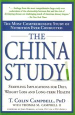"""The China Study examines """"..the relationship between consumption of animal products and ...cancers of the breast, prostate, and bowel, diabetes, coronary heart disease, obesity, autoimmune disease, osteoporosis, degenerative brain disease, and macular degeneration....The book had sold 500,000 copies as of January 2011, making it one of America's best-selling books about nutrition. The China Study of the title is taken from the China-Cornell-Oxford Project, a 20-year study that began in…"""