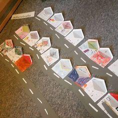 """""""Unsere Klassenstraße.. so können die Kids sich erste Briefe schreiben #lehrerinnenalltag #basteln #referendariat2015"""""""