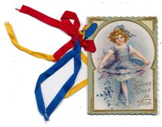 Ellen Clapsaddle - Fold Open Valentine with Ribbons