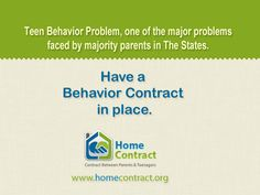 A general behavior contract for teens can help parents address behavior problems that parents are experiencing with their teens. Behavior Contract, Classroom Behavior Management, Parenting Teenagers, Marriage And Family, Teacher Stuff, Hearth, Get Started, Homeschooling, Parents