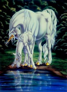 Sue Dawe on-line fantasy art gallery featuring Unicorns, Castles, Dragons Unicorn And Fairies, Unicorn Fantasy, Unicorns And Mermaids, Fantasy Dragon, Unicorn Books, Unicorn Horse, Unicorn Art, Mythological Creatures, Fantasy Creatures