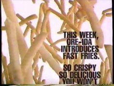 1993 Oreida French Fries TV Commercial - YouTube