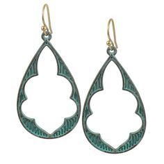 Antiqued Turquoise Drop Earrings from HandPicked