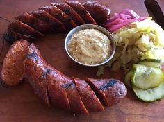 S & M Sausage and Meat:San Diego,CA  Front-Lamb Marguez Back- Alligator Antelope Sausage