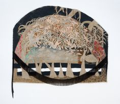 Marlene Steyn, 'What the forest metabolise' Ink, acrylic, found materials and mixed media on unstretched linen, 151 x Shared Rooms, Hand Fan, Mixed Media, Decorative Boxes, Artsy, Ink, Gallery, Painting, Shared Bedrooms