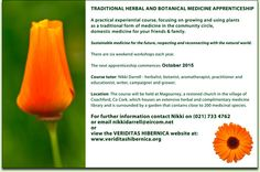 "Course: ""Traditional Herbal and Botanical Medicine Apprenticeship"", October 2015 Nikki Darrel, Coachford Garden Show, Experiential, Natural World, Herbalism, Medicine, Traditional, Fruit, Vegetables, Plants"