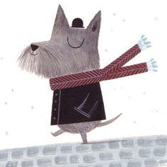 dog in winter - christine pym