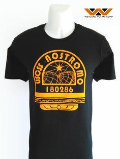 alien nostromo t shirt tee logo patch sci fi movie film 1979 weyland yutani