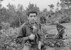 Dan Rather reporting from Vietnam, 1966.