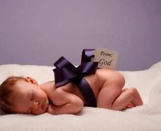 The best new born announcement ever!  I love this!!  A birth is God's way of saying the world should go on!!