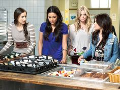 Spencer Hastings, Emily Fields, Hanna Marin, Aria Montgomery