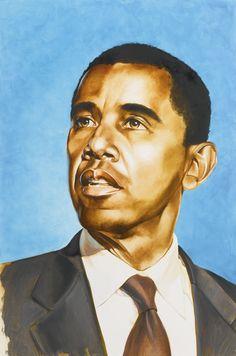 Kehinde Wiley Barack Obama Sketch