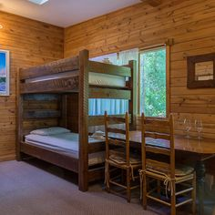 Cabin style at the Adventure Lodge, Boulder, CO