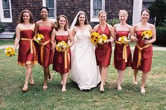 Admire bridesmaids attire. Such a large number of designs to select from. See a lot more at, http://www.photographyinstyle.com