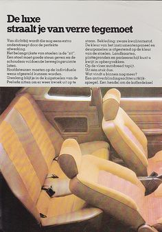 Scan of original 1979 brochure. Honda Prelude, Car Advertising, Mk1, Netherlands, Album, Cars, Holland, Autos, Vehicles