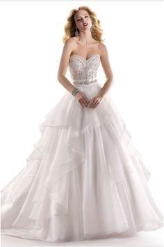 Glamorous Ballgown Silhouette Maggie Sottero Wedding Dresses