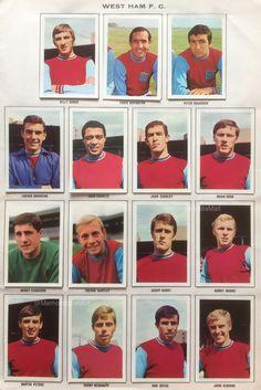 West Ham team stickers for West Ham Team, Trevor Brooking, Harry Redknapp, Geoff Hurst, Martin Peters, Bobby Moore, West Ham United Fc, John Charles, Big Men
