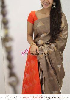 Triloka- Exquisite Designer Kanjivaram Silk Saree from Studio Ayana! #kanjivarams #silks #sarees #onlineboutique #greenlove #studioayana #designersarees