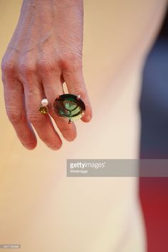 Tilda Swinton, detail, attends a premiere for 'A Bigger Splash' during the 72nd Venice Film Festival at  on September 6, 2015 in Venice, Italy.  (Photo by Dominique Charriau/WireImage)