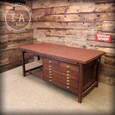 Superb Vintage Adjustable 8 Drawer Jergens Drafting Table