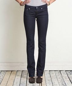 Take a look at this Clean Dark Ideal Low-Rise Straight-Leg Jeans - Women by Henry & Belle on #zulily today!