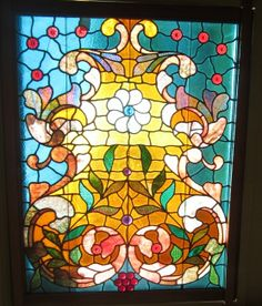 glass Antique Stained Glass Windows, Glass Panels, Color Inspiration, Antiques, Floral, Painting, Ebay, Ideas, England